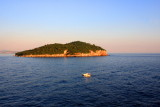 Lokrum Island at dusk