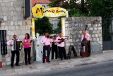 Mariachi band outside Mimoza, Dubrovnik