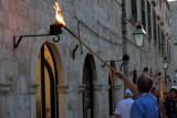 Night, Street lamps are lit, Dubrovnik