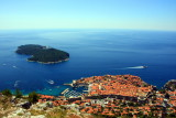Walled city of Dubrovnik from Mount Srd
