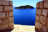 Opening the view on Lokrum Island