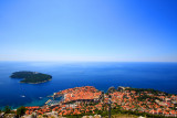Old Town (Grad) Dubrovnik, Lokrum Island and the Adriatic Sea