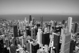 Chicago from the Sears Tower, Black and White