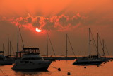 Sunrise, Lake Michigan, from Monroe Harbor, Chicago