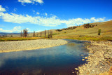 Lamar River, Lamar Valley - Yellowstone National Park