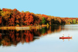 Rock Cut State Park, Illinois - Reflections in Pierce Lake - Fall Colors