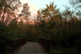 Rock Cut State Park, Illinois - Bridge at dusk