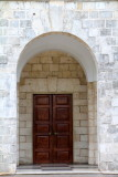 Door to the chapel, University of West Indies, Mona campus, Kingston, Jamaica