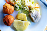 Yam, Fried Dumplings, Jamaica