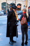 Zorro asking for directions, Hollywood Blvd., Los Angeles