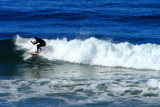 Setup for the tube, surfing in La Jolla