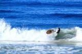 Wipe out, surfing in La Jolla