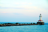 Chicago Harbor Lighthouse, Lake Michigan