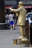 Golden man, Fisherman's Wharf, San Francisco