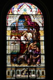 Stained glass window, Sts. Peter and Paul Church, San Francisco