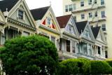 Row homes, Alamo Square, San Francisco, California