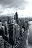 Chicago view from Lake Point Tower 70th floor  - Open House Chicago 2012, Black and White