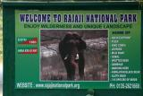 The Official board, Rajaji National Park, Uttaranchal