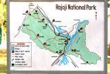 Map of the park, Rajaji National Park, Uttaranchal