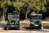 Safari jeeps, Rajaji National Park, Uttaranchal