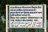 The world's largest democracy, Wagah Border, Punjab