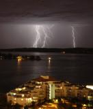 Lightning over Cameron Island