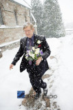 David with bouquet