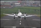 Landing at Sumburgh airport