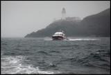 Taking the boat around Noss