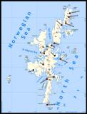 Shetland main islands and villages