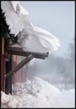 The stable at Bergunda (Växjö) - Fantastic weather at Christmas eve - snowstorm over southeast Sweden