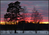 Dusk at Lidhem south of Växjö