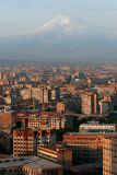 Capital city Yerevan and Mt  Ararat