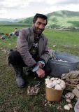 Armenian man with mushroom