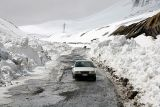 Snow melting on Military Highway