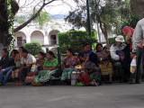 People watching Antigua Guatemala