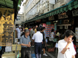 Sushi restaurants surrounding the market