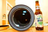 Objective lens closeup