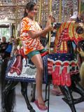 Enjoying the carousel