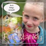 Emily With Flat Stan In Her Bouquet