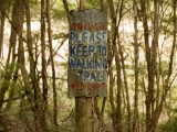 Please keep to the walking track