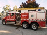 The Fire Engine leaving to fight a fire