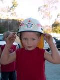Jackson wearing the hat