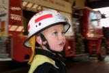 Firefighter Logan on duty