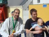Dad's 80th bday reunion: Marcos, Dan, LA