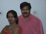 K Sudhakar with Swarnalatha in Doha