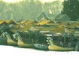 boats in snow summer palace_Beijing China