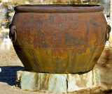 huge big brass pot in the hot sun cold weather_China_.jpg