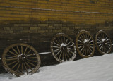 four wagon wheels_xian China.