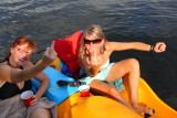 This is what they had to say about drinking and paddleboating